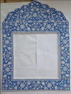 Mavi beyaz dönem babanakkaş üslubu çini ayna, tiles , my desing, turkısh arts