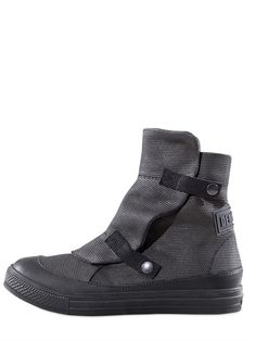 Demobaza is a young fashion brand, which has generated the concept of deconstructive uniforms. - MOON CANVAS LOW BOOTS - LUISAVIAROMA
