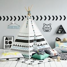 Adairs Kids Four Pines Teepee, teepee tent, kids tent