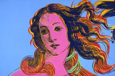Details of Renaissance Paintings (Sandro Botticelli, Birth of Venus, 1482) - Andy Warhol, 1984