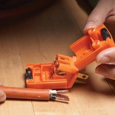 how to replace extension cord plugs