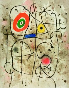Joan Miro - Composition au visage, 1965