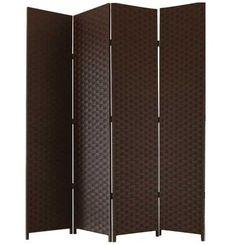 ENTWINE SQ Farbe Braun handgefertigt 4 Raumteiler / Paravent / Trennwand,