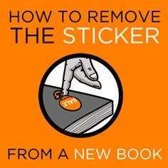 Comic: How to Remove the Sticker from a New Book - so difficult it's true! From Rock, Paper, Cynic