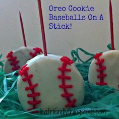 Baseball Cookies On A Stick - Easy to make, Fun to do, Delicious to Eat!