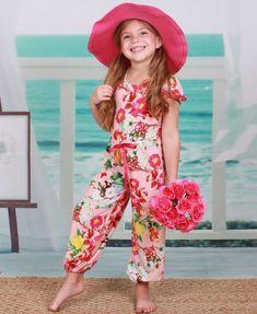 45164b89aa Mia Belle Girls Bubble Leg Cap Sleeve Jumpsuit (Toddler