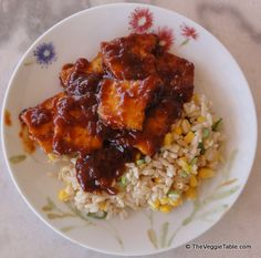 Barbecue sauce is typically eaten with steak or ribs. What can a vegetarian eat barbecue sauce with? Fried tofu! https://www.theveggietable.com/blog/vegetarian-recipes/main-courses/barbecued-tofu/