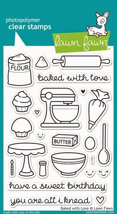 Lawn Fawn BAKED WITH LOVE Clear Stamps LF805 zoom image