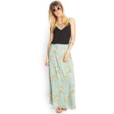 FOREVER 21+ PLUS SIZES Floral Maxi Skirt