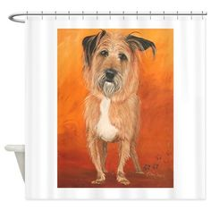 Terrier Art by Dawn Secord Shower Curtain on CafePress.com