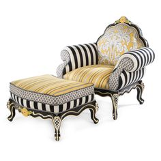 MacKenzie-Childs | Queen Bee Chair and Ottoman