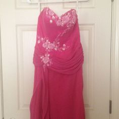 "Pink """"Sparkle"""" Size 4 Gown"
