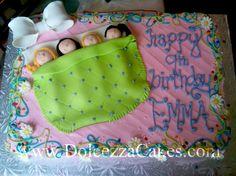 Slumber Party Cake www.DolcezzaCakes.com