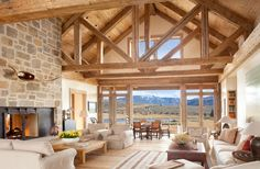 A breathtaking rural retreat by the lake in the Roaring Fork Valley - best house decoration - A stunning rural lake retreat in the Roaring Fork Valley - Cabin Homes, Log Homes, Future House, Rural Retreats, Architecture, My Dream Home, Great Rooms, Beautiful Homes, House Plans
