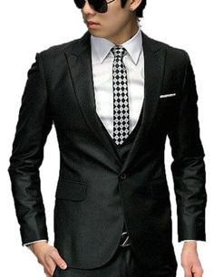 Men's New Stylish Fashion One Button Slim Fit Formal Dress Suit IN Black Grey (US : XS, Black Blazer) TRURENDI, To SEE or BUY just CLICK on AMAZON right here  http://www.amazon.com/dp/B00IU8GOH2/ref=cm_sw_r_pi_dp_BLeDtb1W4JNK134F