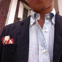 Linen Floral Pocket Square via The Patalones