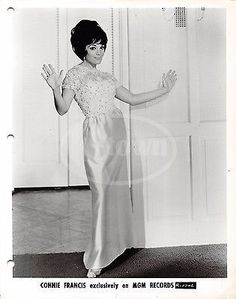 CONNIE FRANCIS POP MUSIC SINGER DANCING VINTAGE MGM RECORDS STUDIO PROMO PHOTO