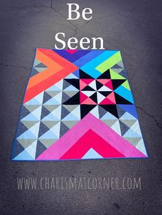 Be Seen quilt pattern - Patchwork Modern Quilting Designs, Modern Quilt Patterns, Loom Patterns, Star Patterns, Modern Quilt Blocks, History Of Quilting, Geometric Quilt, Half Square Triangle Quilts, Quilt Modernen