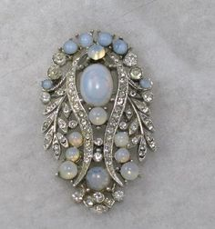 Spectacular Signed ART Moonstone Brooch