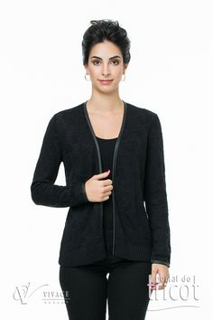Portal do Tricot Athletic, Zip, Sweaters, Jackets, Fashion, Elegant Woman, Charms, Tricot, Down Jackets