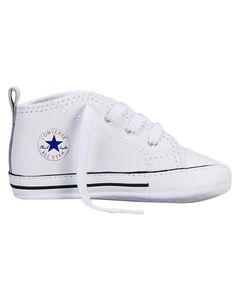 a0c78806868a CONVERSE Chuck Taylor First Star Infant White Baby Sneakers