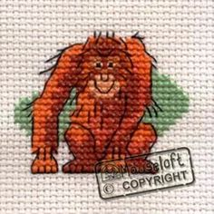 Mouseloft Mini Cross Stitch Kit  - Orang-utan