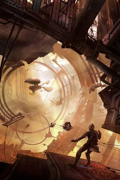 Pirate Space by Dumitrescu Ioan, ~jonone on deviantART #airship | Maybe more sf than sp…
