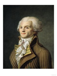 Maximilien De Robespierre (1758-1794) lawyer, politician, & an influential figure of French Revolution. A member of the Estates-General & Jacobin Club, he advocated the abolition of slavery, while supporting equality of rights & the establishment of a republic. He took control of the Revolution in its most radical & bloody phase–the Jacobin republic. During the Terror he was to use the guillotine, creating a 'republic of virtue.'  7/28/1794, he was guillotined without trial.