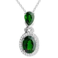 Green Alalite Sterling Silver Wedding Bridal Engagement Jewelry Necklace SKU-10802333