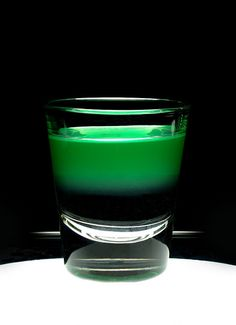 "The ""1up"" (Super Mario Bros. Shot) Half shot of Malibu Rum & Half shot of Midori 