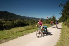 Former railway tracks in several areas of the French Pyrenees have been transformed into cycle ways that are perfect for rides out with the family.