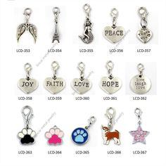 engraved words dangle charms for glass locket bracelet