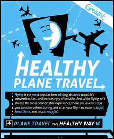 Plane Travel The Healthy Way Infographic1