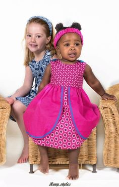 JenniDezigns is a boutique range of quirky yet classical clothing for young girls, giving them the freedom to just be children. Ankara Styles For Kids, African Dresses For Kids, African Children, African Print Dresses, African Fashion Dresses, African Attire, African Wear, Ankara Fashion, African Style