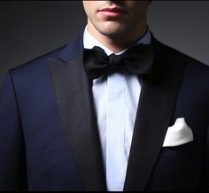 Navy Tux with Black Accent