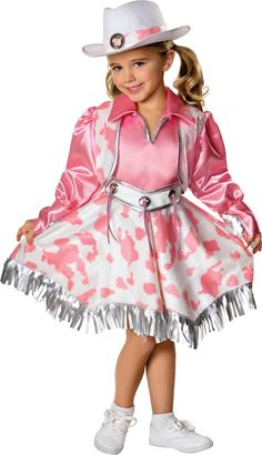 Girls Western Diva Halloween Costume, Size: S;M, Pink