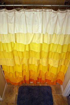 Taylor Made: DIY Anthropologie Flamenco Shower Curtain in Sunshine