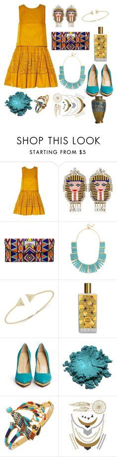 """Pharaoh"" by mercantichiara ❤ liked on Polyvore featuring Fendi, Shourouk, ASPIGA, BaubleBar, MEMO, Charlotte Olympia and Tattify"