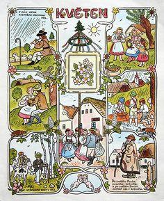 Josef Lada Calendar: May | by oliver.tomas
