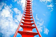 #rollercoaster #blue sky