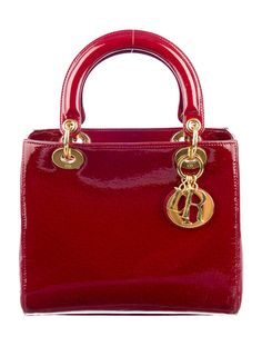 Lady In Red: Christian Dior Patent Lady Dior Bag. (TheRealReal.com)