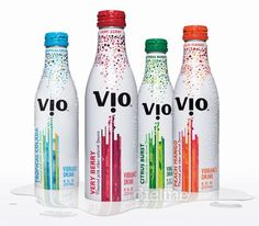 Vio - skim milk, sparkling water, natural fruit flavour & pure sugar cane blended drink