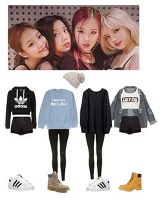Dance practice #6 by bbybjoo on Polyvore featuring polyvore Topshop Alexander Wang rag & bone adidas Timberland prAna fashion style clothing
