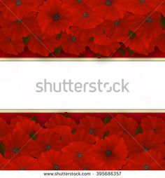 Flower frame. Floral border or card. Bouquet of red azalea background with space for text - stock photo