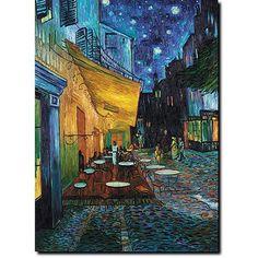 "Trademark Fine Art ""Cafe Terrace"" Canvas Art by Vincent van Gogh"