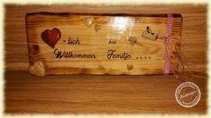 Willkommensschild, Türschild, Holz, bedruckt, Eingangsschild, Herzlich Willkommen, Eingangsdekoration, Holzdruck, individuelles Willkommensschild