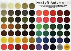 Deep Soft Autumn : Only deep warm soft colors