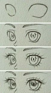 Manga Drawing Tips Design to draw - Draw Pattern - Eyes~ Eye Drawing Tutorials, Sketches Tutorial, Drawing Techniques, Drawing Tips, Art Tutorials, Eye Tutorial, Drawing Drawing, Anime Eyes Drawing, Drawing Faces