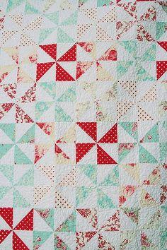 Pinwheels  like the colors....easy pattern