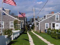 Side street in Sconset, Nantucket